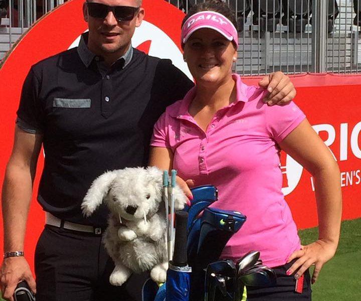 Lina Boqvist tillsammans med sin tränare Erik Andersson
